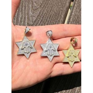 Harlembling Accessories - Harlembling Men Star Magen David Star W. Hamsa